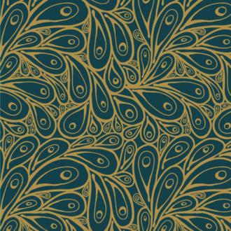 20 serviettes 33x33 cm peacock