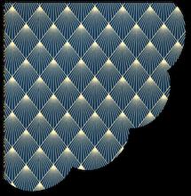 Achat en ligne 12 serviettes forme biscuit marine diamond or