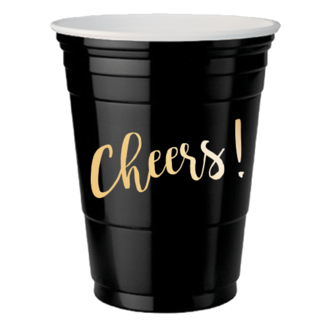 10 gobelets Cheers or fond noir 47cl