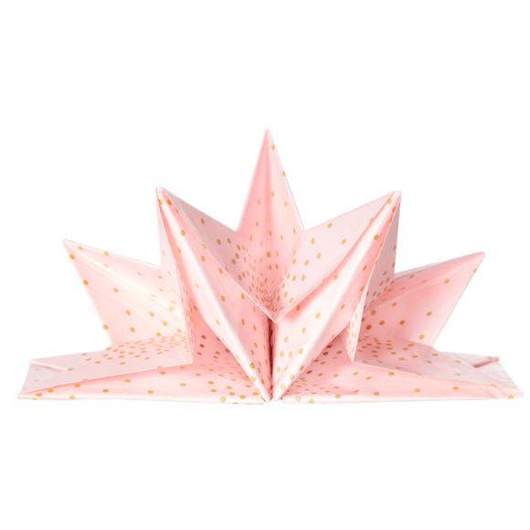 Achat en ligne 12 serviettes pré-pliées 40x60 cm or fond rose