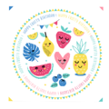 20 Serviettes kids fruits 33x33cm