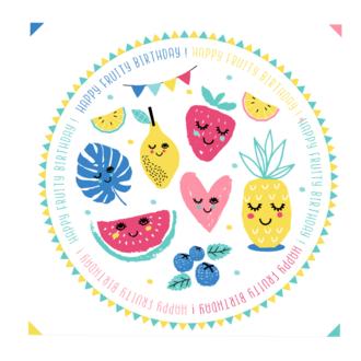 20 serviettes kids fruits 33x33cm