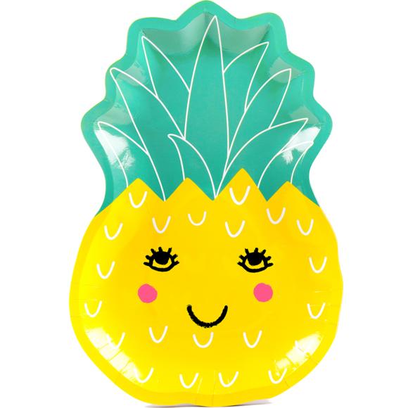 Achat en ligne 8 Assiettes kids ananas 27,5x19 cm