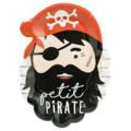 8 Assiettes petit pirate 18x24cm
