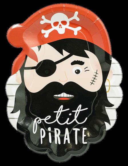 Achat en ligne 8 Assiettes petit pirate 18x24cm