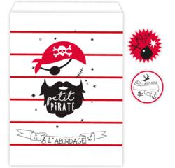 Achat en ligne 10 Sachets bonbons petit pirate et stickers