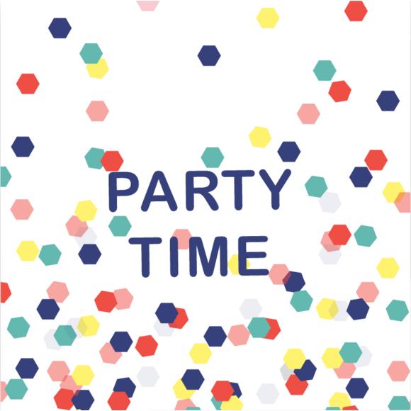 Achat en ligne 20 Serviettes party time 33x33cm