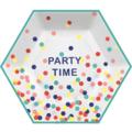 8 Assiettes party time 21,5 x 19cm