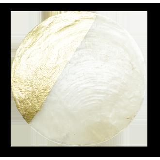 Sachet de 6 ronds nacre et or à disperser