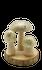 Champignons doré sur rondin de bois h6cm