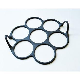 Moule pour 7 mini blinis en silicone