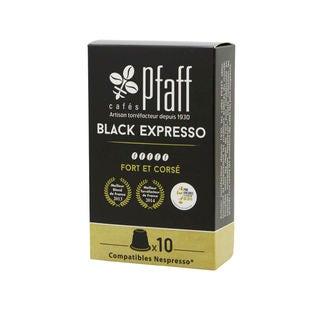 Boîte de 10 capsules black expresso