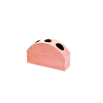 LE MONDE EN TUBE - Support en bois arrondi pour 3 tubes à épices