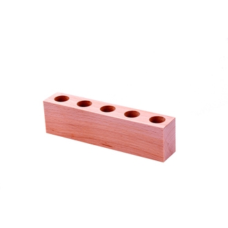 LE MONDE EN TUBE - Support en bois pour 5 mini-tubes à épices