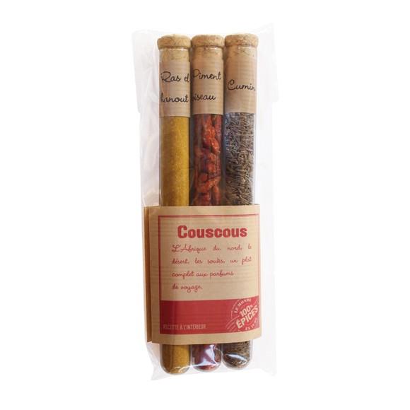 Achat en ligne Etui de 3 épices à couscous 41g