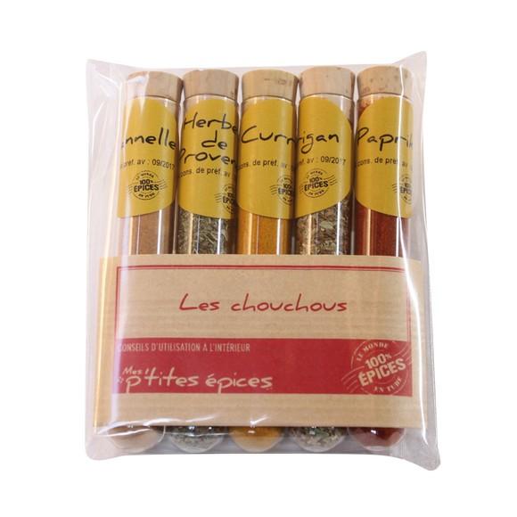 Achat en ligne Lot de 5 petites épices Les chouchous 43g
