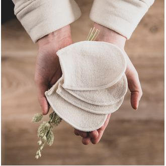4 disques à démaquiller lavables 100% coton bio certifié gots