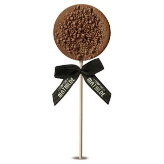 LE COMPTOIR DE MATHILDE - Sucette de chocolat au lait pétillant 40g