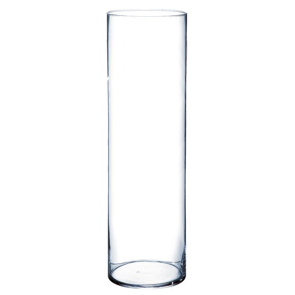 grand vase cylindrique en verre transparent 15x50cm pas cher z dio. Black Bedroom Furniture Sets. Home Design Ideas