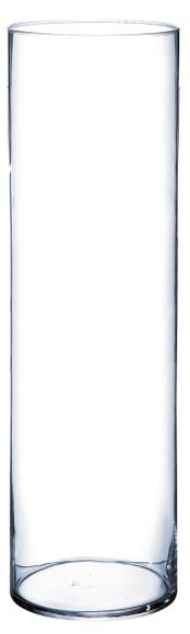 Achat en ligne Grand vase cylindrique en verre transparent 15x50cm