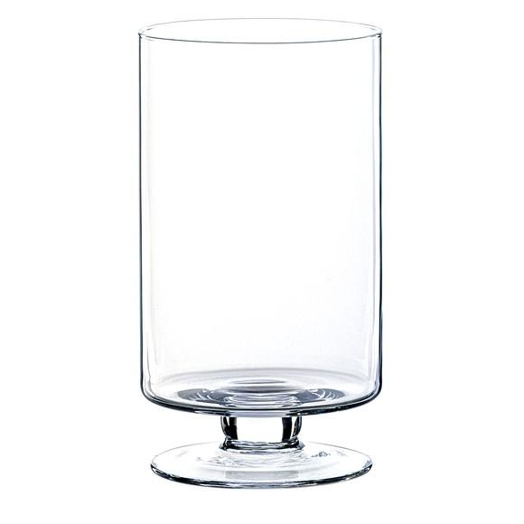 Photophore en verre transparent Starlight H30xD16,5cm