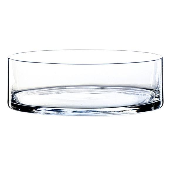 Coupe cylindrique en verre transparent 8X25cm