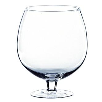 Vase en verre transparent forme de verre à cognac 24xØ19,5cm
