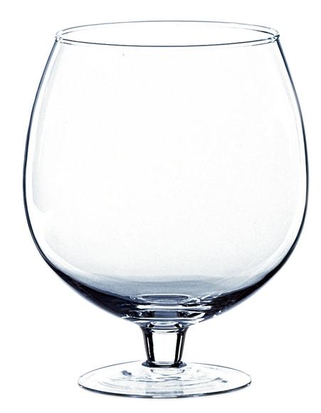 Achat en ligne Vase en verre transparent forme de verre à Cognac 24xØ19,5cm