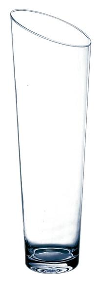 Achat en ligne Grand vase conique en verre transparent Slicy H60xØ18cm