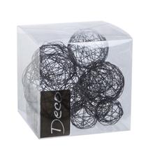 Achat en ligne Set de 10 balles de fil métallisé noir de 3 à 5 cm