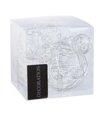Achat en ligne Set de 10 balles de fil métallisé argent de 3 à 5 cm