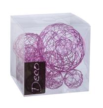 Achat en ligne Set de 10 balles de fil métallisé rose de 3 à 5 cm
