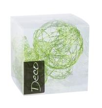 Achat en ligne Set de 10 balles de fil métallisé vert pomme de 3 à 5 cm