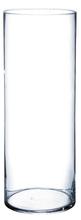 Achat en ligne Vase cylindrique en verre transparent 40x15cm