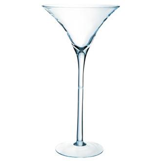 Grand vase en verre transparent martini 50x25cm