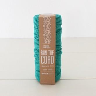 KESIA ART Fil macramé 100% coton vert plante grasse 3mm