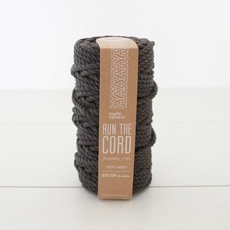KESIA ART Fil macramé 100% coton noir 6mm