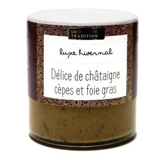 SAVOR ET SENS - Délice de châtaigne cèpes et foie gras