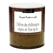 Achat en ligne Délice de châtaigne cèpes et foie gras 100g