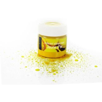 Colorant alimentaire en poudre hydrosoluble jaune en pot 10g