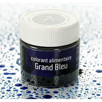 Colorant alimentaire en poudre hydrosoluble bleu en pot 10g