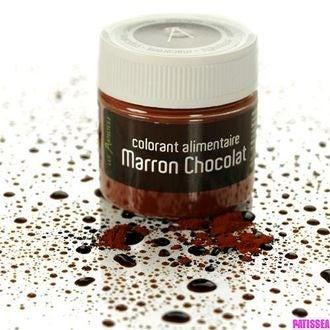 Colorant alimentaire en poudre hydrosoluble marron 10g
