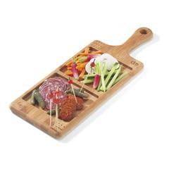 Achat en ligne Planche apéritif à 2 compartiments en bambou