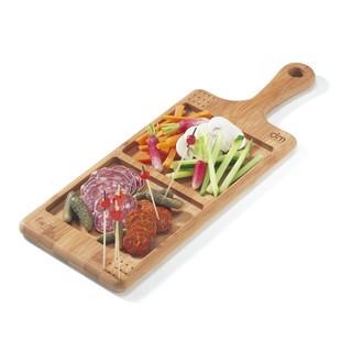 Planche apéritif à 2 compartiments en bambou