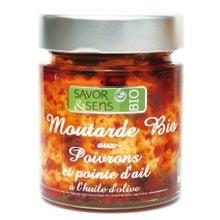 Achat en ligne Moutarde aux poivrons et à l'ail biologique 130g