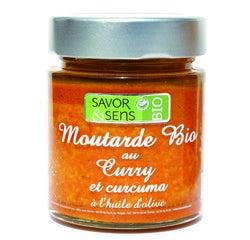 Achat en ligne Moutarde au curry et au curcuma biologique 130g