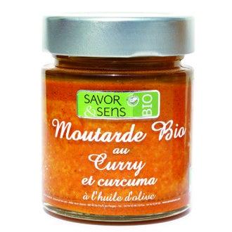 SAVOR & SENS - Moutarde au curry et au curcuma biologique 130g