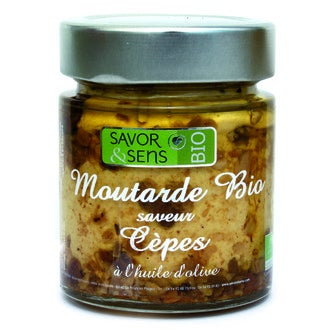 SAVOR & SENS - Moutarde aux cèpes biologique 130g