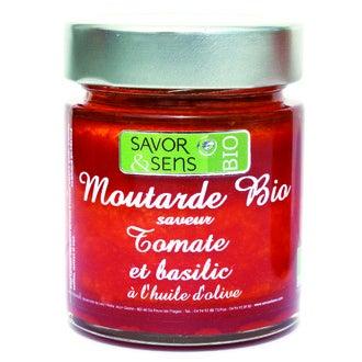 SAVOR & SENS - Moutarde à la tomate et au basilic biologique 130g