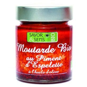 SAVOR & SENS - Moutarde au piment d'espelette biologoqie 130g